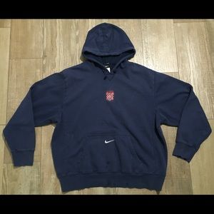 Size xl men's Nike nomads soccer hoodie navy blue